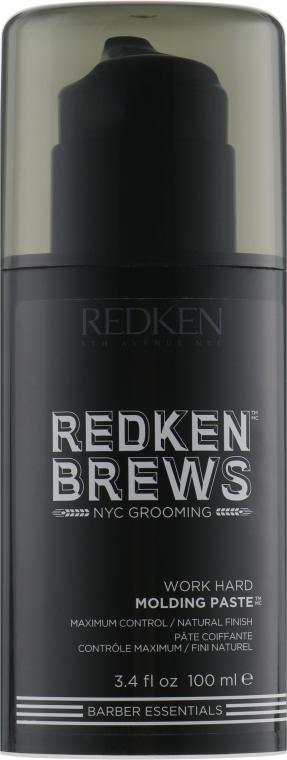 Паста моделирующая для подвижной текстуры, для мужчин - Redken Brews Work Hard Molding Paste