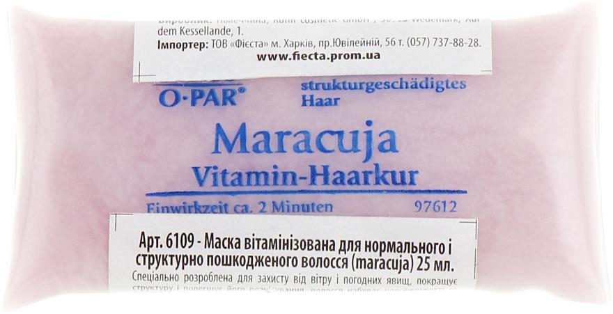 """Маска витаминизированная для нормальных и поврежденных волос """"Маракуйя"""" - Swiss-o-Par"""