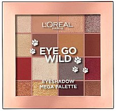 Духи, Парфюмерия, косметика Палетка теней для век - L'Oreal Paris Eye Go Wild Eyeshadow Mega Palette