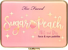 Палетка для макияжа глаз и лица - Too Faced Sugar Peach Wet and Dry Face & Eye Palette — фото N3