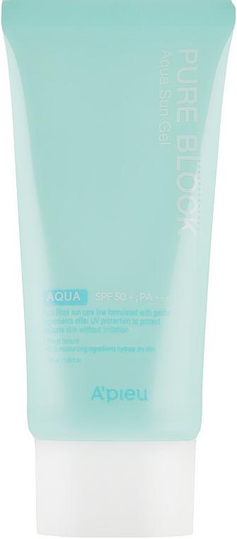Солнцезащитный гель - A'pieu Pure Block Aqua Sun Gel SPF50+/Pa+++