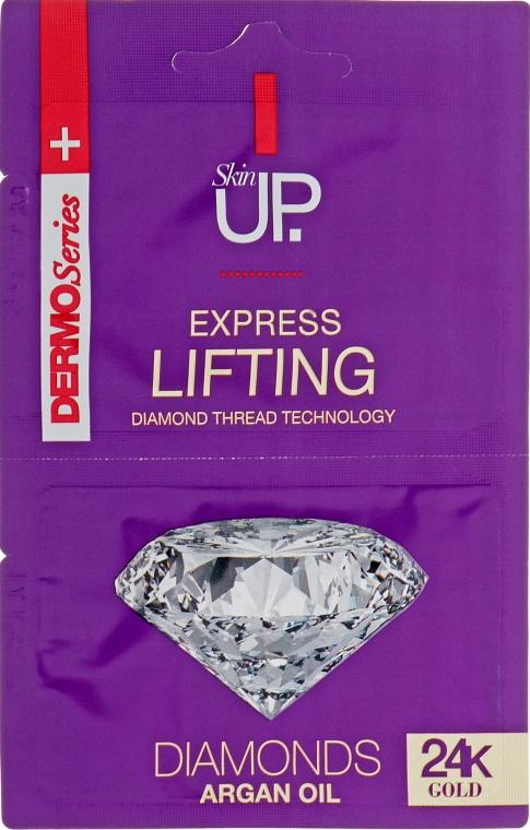 Лифтингующая экспресс-маска для лица с 24-каратным золотом и бриллиантами - Verona Laboratories DermoSerier Skin Up Express Lifting Diamonds 24k Gold