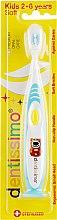 Духи, Парфюмерия, косметика Детская зубная щетка (от 2 до 6 лет), голубая - Dentissimo Kids