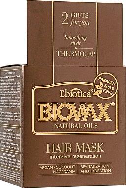 """Маска для волос """"Натуральные масла"""" - L'biotica Biovax Natural Hair Mask Intensive Regeneration"""