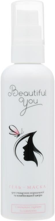Гель-маска для очищения лица с корнем мыльного ореха и каолином - Beautiful You