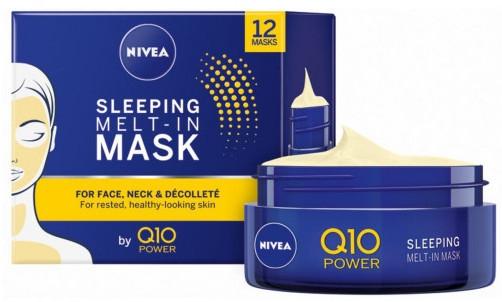 Маска для лица, ночная - Nivea Q10 Power Sleeping Melt-In Mask