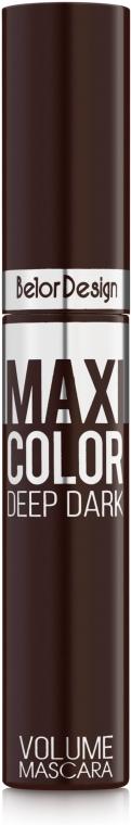 Тушь для ресниц объемная - BelorDesign Maxi Color Volume Mascara