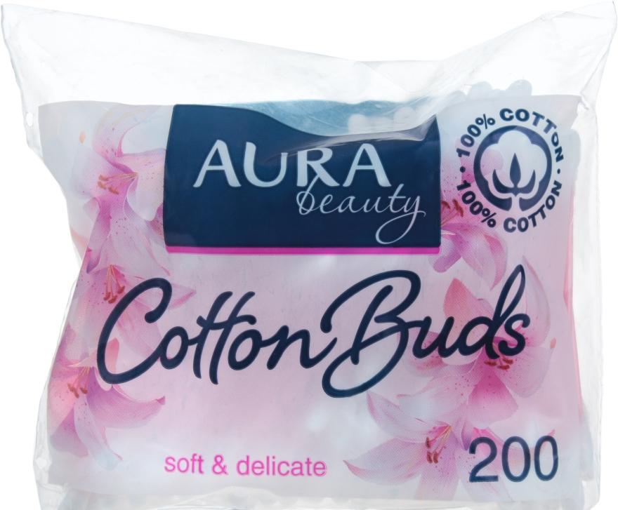 Ватные палочки в полиэтиленовом пакете, 200шт - Aura Beauty Soft&Delicate