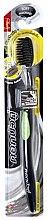 Парфумерія, косметика Антибактеріальна зубна щітка з вугіллям, зелена - Twin Lotus Bamboo Charcoal Toothbrush