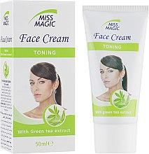 Духи, Парфюмерия, косметика Крем для лица тонизирующий с экстрактом зеленого чая - Miss Magic Toning Face Cream
