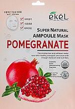 Духи, Парфюмерия, косметика Тканевая маска с экстрактом граната - Ekel Super Natural Ampoule