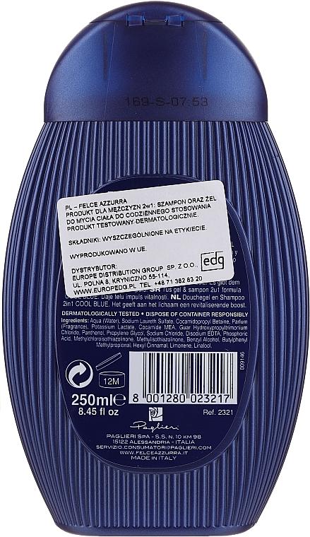 """Шампунь и гель для душа """"Cool Blue"""" - Felce Azzurra Shampoo And Shower Gel For Man — фото N6"""