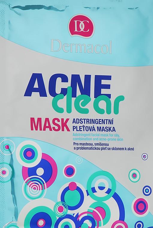 Стягивающая маска для жирной, комбинированной и проблемной кожи - Dermacol Acne Clear Mask