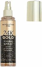 Духи, Парфюмерия, косметика Фиксатор макияжа - Revolution Pro 24K Gold Fixing Spray