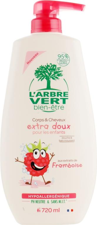 Крем-гель для душа детский с экстрактом малины - L'Arbre Vert Cream Shower Gel