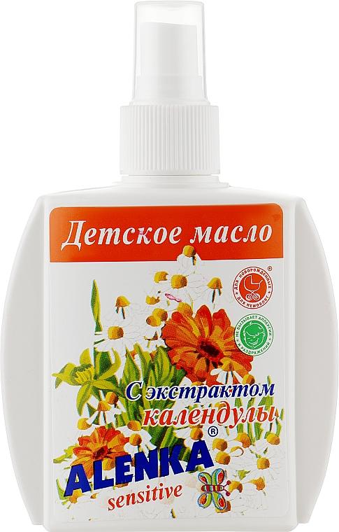 Детское масло-спрей с экстрактом календулы - Alenka