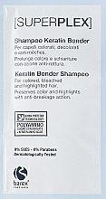 Духи, Парфюмерия, косметика Шампунь для окрашенных и обесцвеченных волос - Barex Italiana Superplex Shampoo Keratin Bonder (пробник)