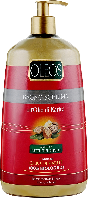 Гель-пена для душа и ванны с маслом карите - Oleos