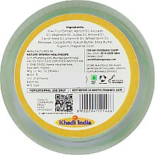 """Натуральный аюрведический бальзам для губ """"Киви"""" с пчелиным воском и мёдом - Khadi Organique Kiwi Fruit Lip Balm — фото N3"""