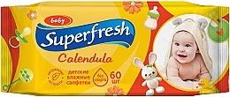 """Духи, Парфюмерия, косметика Влажные салфетки для детей и мам """"Календула"""", 60шт - Superfresh"""