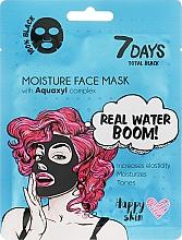 Духи, Парфюмерия, косметика Маска для лица - 7 Days Total Black Moisture Real Water Boom