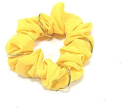 Духи, Парфюмерия, косметика Резинка для волос P0176-4, 11 см, желтая - Akcent