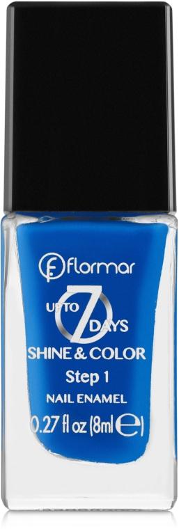 Лак для ногтей - Flormar Shine and Color Up to 7 day — фото N1