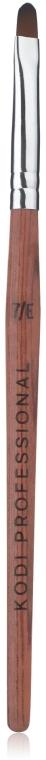 Кисть для гелевого моделирования, деревянная ручка, 7/E - Kodi Professional