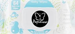 Духи, Парфюмерия, косметика Детские влажные салфетки, 64 шт - Papilion Baby Wipes