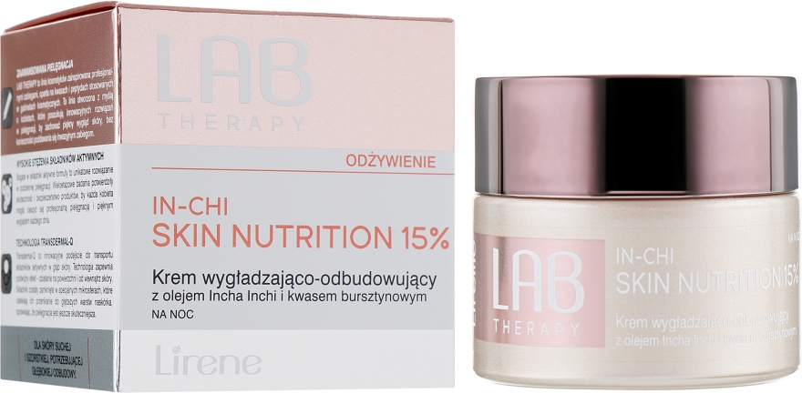 Восстанавливающий разглаживающий ночной крем для лица - Lirene Lab Therapy Nourishment In-Chi Skin Nutrition 15%