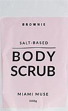 Духи, Парфюмерия, косметика Скраб для тела на основе гималайской соли - Brownie Body Scrub Miami Muse