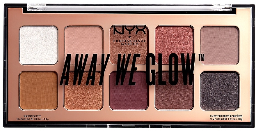 Палетка теней для век - NYX Professional Makeup Away We Glow Shadow Palette