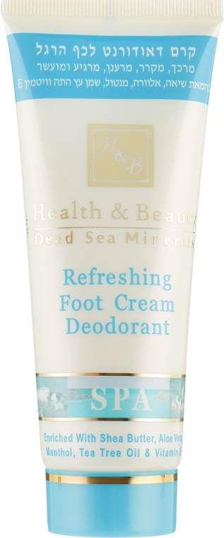 Крем-дезодорант для ног с охлаждающим эффектом - Health And Beauty Refreshing Foot Cream Deodorant