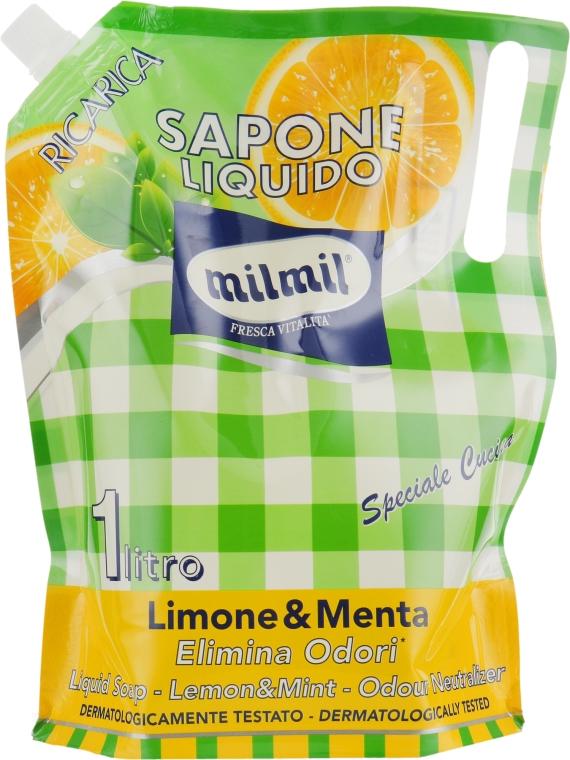 """Жидкое мыло """"Лимон и мята"""" - Mil Mil"""