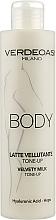 Духи, Парфюмерия, косметика Бархатное тонизирующее молочко для тела - Verdeoasi Velvety Milk Tone-Up
