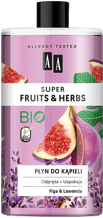 """Пена для ванны """"Инжир и лаванда"""" - AA Super Fruits & Herbs Bath Foam"""