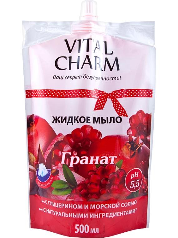 """Жидкое мыло с глицерином, экстрактом """"Граната"""" - Vital Charm"""
