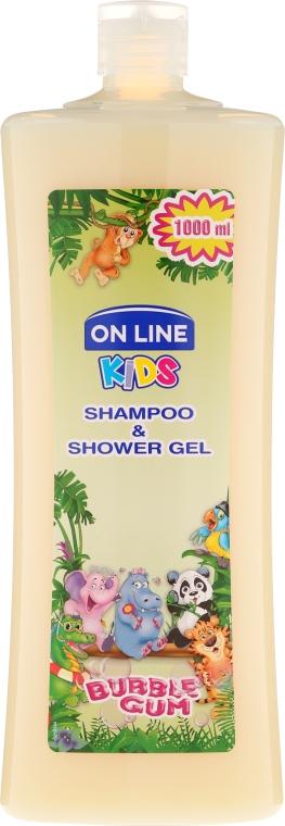 "Шампунь-гель для душа ""Жвачка"" - On Line Kids Shampoo & Body Wash Bubble Gum"