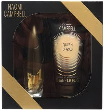 Духи, Парфюмерия, косметика Naomi Campbell Queen of Gold - Набор (edt/15ml + sh/gel/50ml)