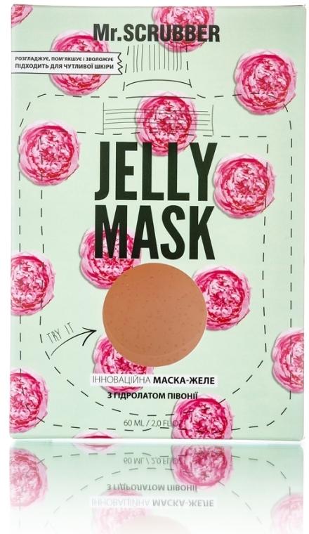 Гелевая маска для лица с гидролатом пиона - Mr.Scrubber Jelly Mask