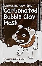 Духи, Парфюмерия, косметика Маска для лица глиняно-пузырьковая - Elizavecca Milky Piggy Carbonated Bubble Clay Mask (пробник)