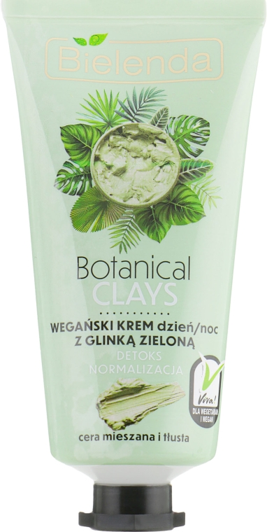 Крем для лица с зеленой глиной - Bielenda Botanical Clays Vegan Day Night Cream Green Clay