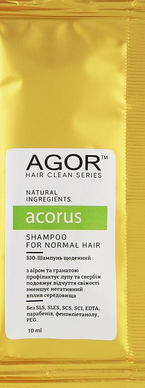 Био-шампунь для нормальных волос - Agor Hair Clean Series Acorus Shampoo For Normal Hair (пробник)