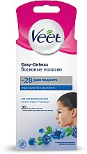 Духи, Парфюмерия, косметика Восковые полоски для лица с миндальным маслом и ароматом василька - Veet Easy-gelwax