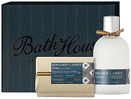 Духи, Парфюмерия, косметика Bath House Bergamot & Amber - Набор (edc/100ml + soap/150g)