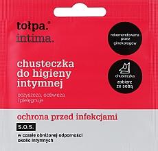 Духи, Парфюмерия, косметика Салфетки для интимной гигиены антибактериальные 1шт - Tolpa Intima
