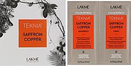 Духи, Парфюмерия, косметика Набор пробников - Lakme Teknia Color Refresh Saffron Copper (sh/10ml+mask/10ml)