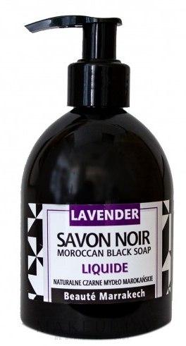 """Жидкое черное мыло с аргановым маслом """"Лавандовое"""" - Beaute Marrakech Argan Black Liquid Soap — фото 250ml"""