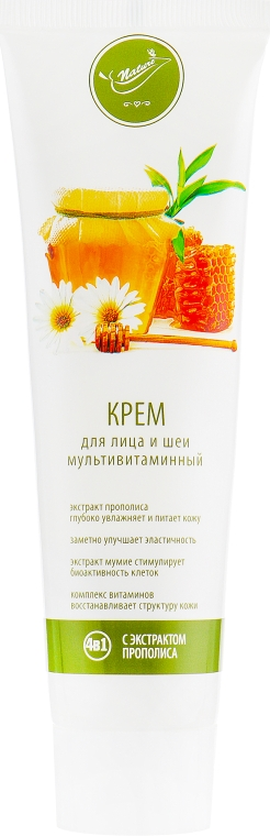 Крем для лица и шеи мультивитаминный с экстрактом прополиса - Bioton Cosmetics Nature Face Cream