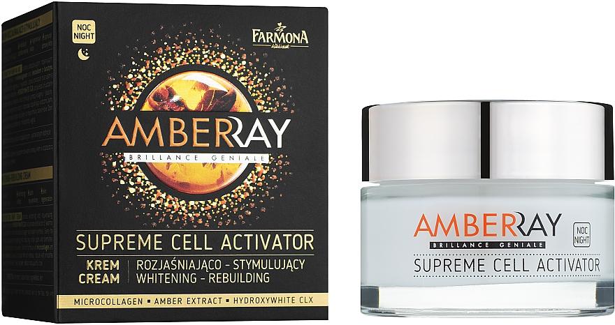 """Янтарный ночной крем для лица """"Клеточный активатор"""" - Farmona Amberay Cream"""